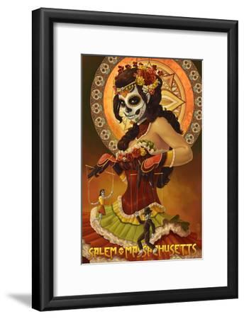 Salem, Massachusetts - Day of the Dead Marionettes-Lantern Press-Framed Art Print