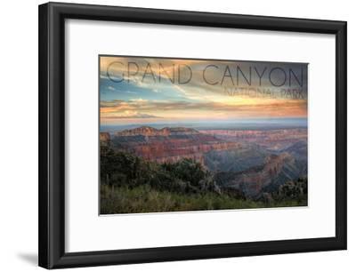Grand Canyon National Park, Arizona - Hazy Canyon View-Lantern Press-Framed Art Print