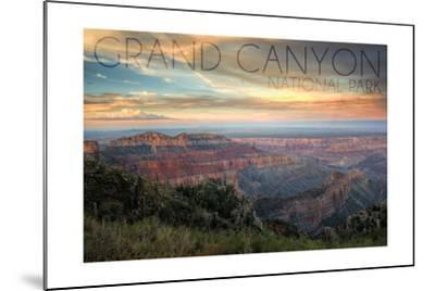Grand Canyon National Park, Arizona - Hazy Canyon View-Lantern Press-Mounted Art Print