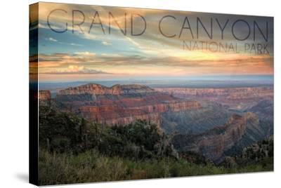 Grand Canyon National Park, Arizona - Hazy Canyon View-Lantern Press-Stretched Canvas Print