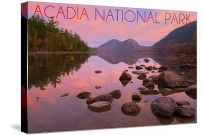 Acadia National Park, Maine - Jordan Pond-Lantern Press-Stretched Canvas Print