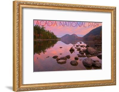 Acadia National Park, Maine - Jordan Pond-Lantern Press-Framed Art Print