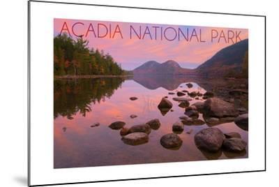 Acadia National Park, Maine - Jordan Pond-Lantern Press-Mounted Art Print