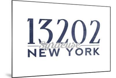 Syracuse, New York - 13202 Zip Code (Blue)-Lantern Press-Mounted Art Print