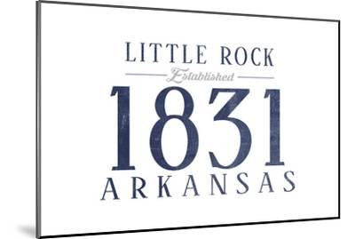 Little Rock, Arkansas - Established Date (Blue)-Lantern Press-Mounted Art Print