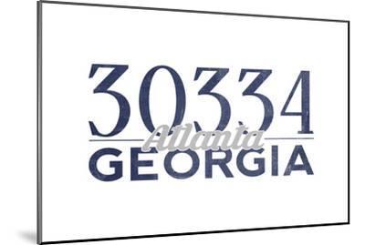 Atlanta, Georgia - 30334 Zip Code (Blue)-Lantern Press-Mounted Art Print