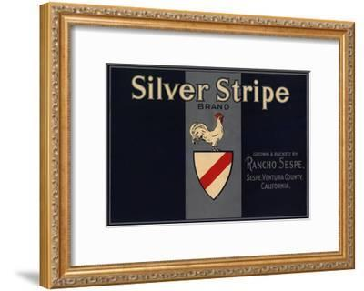 Silver Stripe Brand - Sespe, California - Citrus Crate Label-Lantern Press-Framed Art Print