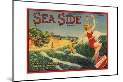 Sea Side Brand - Oxnard, California - Citrus Crate Label-Lantern Press-Mounted Art Print
