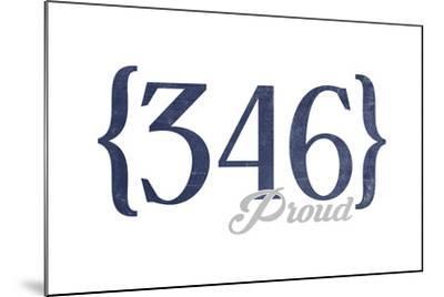 Houston, Texas - 346 Area Code (Blue) Art Print by Lantern Press   Art com