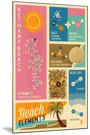 Bethnay Beach, Delaware - Chemical Beach Elements-Lantern Press-Mounted Art Print