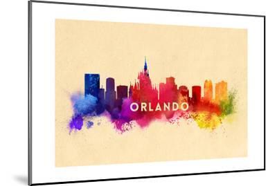 Orlando, Florida - Skyline Abstract-Lantern Press-Mounted Art Print