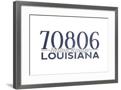 Baton Rouge, Louisiana - 70806 Zip Code (Blue)-Lantern Press-Framed Art Print