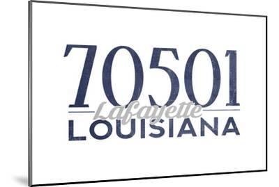 Lafayette, Louisiana - 70501 Zip Code(Blue)-Lantern Press-Mounted Art Print