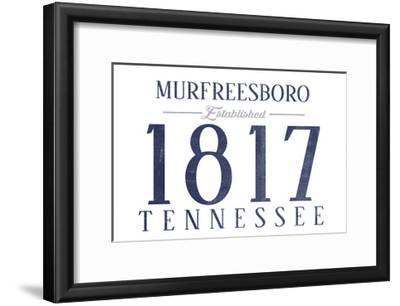 Murfreesboro, Tennessee - Established Date (Blue)-Lantern Press-Framed Art Print