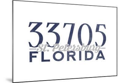 St. Petersburg, Florida - 33705 Zip Code (Blue)-Lantern Press-Mounted Art Print
