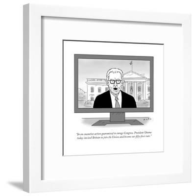 """In an executive action guaranteed to enrage Congress, President Obama tod?"" - Cartoon-Kim Warp-Framed Premium Giclee Print"