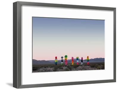 Ugo Rondinone: Seven Magic Mountains, Las Vegas Nevada, 2016 (Official Authorized Print)--Framed Photographic Print