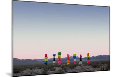 Ugo Rondinone: Seven Magic Mountains, Las Vegas Nevada, 2016 (Official Authorized Print)--Mounted Photographic Print