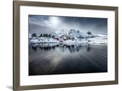 On Silent Wings-Philippe Sainte-Laudy-Framed Photographic Print