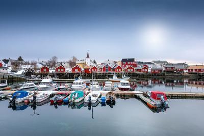 Port of Reine-Philippe Sainte-Laudy-Premium Photographic Print