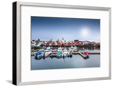 Port of Reine-Philippe Sainte-Laudy-Framed Premium Photographic Print