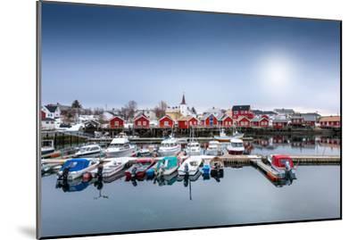 Port of Reine-Philippe Sainte-Laudy-Mounted Premium Photographic Print