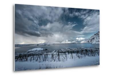Cloudy Day in Norway-Philippe Sainte-Laudy-Metal Print