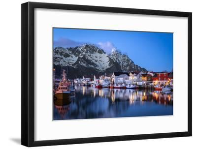 Henningsv?r the Venice of the Lofoten-Marco Carmassi-Framed Photographic Print