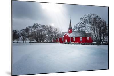 Flakstad Church-Philippe Sainte-Laudy-Mounted Photographic Print