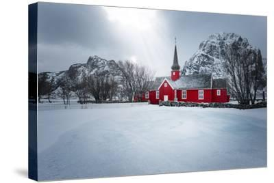 Flakstad Church-Philippe Sainte-Laudy-Stretched Canvas Print