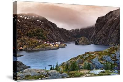 Norwegian Village-Liloni Luca-Stretched Canvas Print