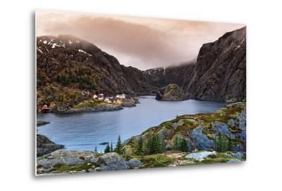 Norwegian Village-Liloni Luca-Metal Print