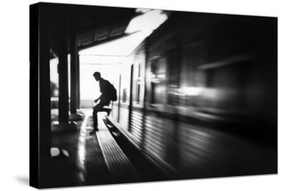 The Station: Rush Arrival-Sebastian Kisworo-Stretched Canvas Print