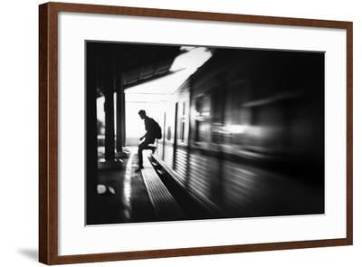 The Station: Rush Arrival-Sebastian Kisworo-Framed Photographic Print