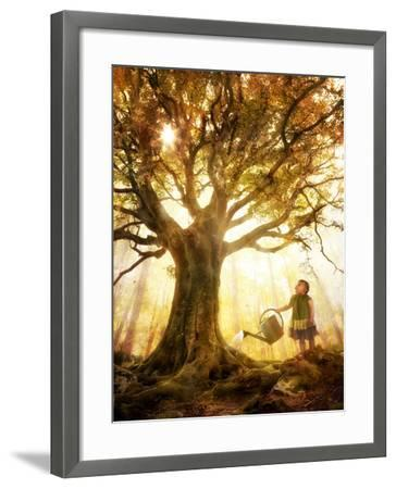 Growing Up Is Made of Small Things-Christophe Kiciak-Framed Photographic Print