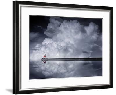 Cloud Desending-Like He-Framed Photographic Print