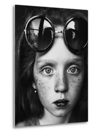 Round Glasses Reflection-Kharinova Uliana-Metal Print