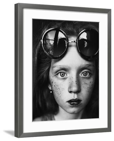 Round Glasses Reflection-Kharinova Uliana-Framed Photographic Print