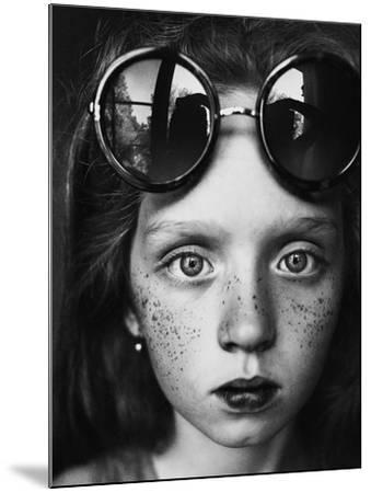 Round Glasses Reflection-Kharinova Uliana-Mounted Photographic Print