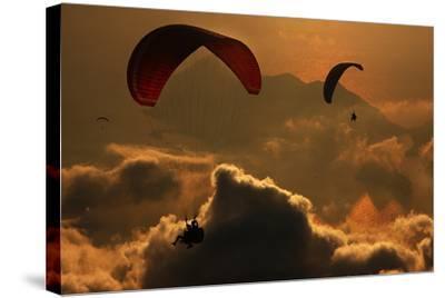 Paragliding-Yavuz Sariyildiz-Stretched Canvas Print