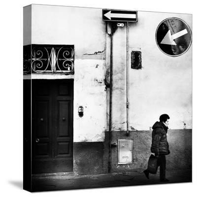 Left, Absolutely!-Franco Maffei-Stretched Canvas Print