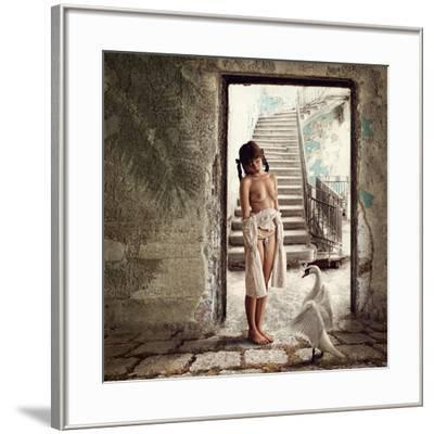 Princess and the Swan-Dmitry Laudin-Framed Photographic Print