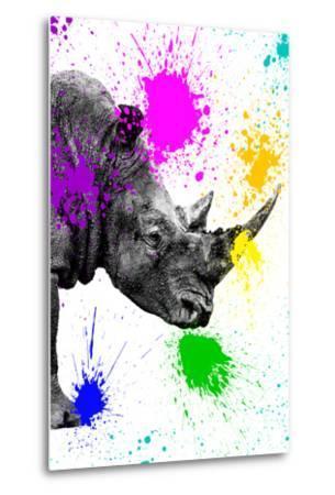 Safari Colors Pop Collection - Rhino Portrait IV-Philippe Hugonnard-Metal Print
