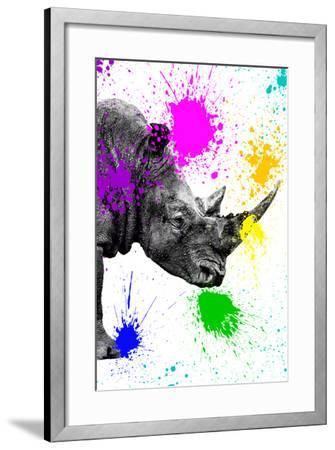 Safari Colors Pop Collection - Rhino Portrait IV-Philippe Hugonnard-Framed Giclee Print