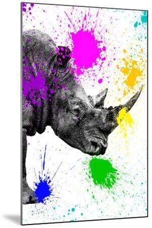 Safari Colors Pop Collection - Rhino Portrait IV-Philippe Hugonnard-Mounted Giclee Print