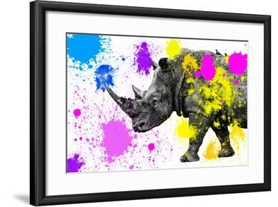 Safari Colors Pop Collection - Rhino-Philippe Hugonnard-Framed Giclee Print