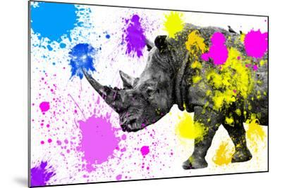 Safari Colors Pop Collection - Rhino-Philippe Hugonnard-Mounted Giclee Print