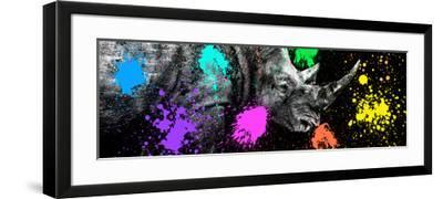 Safari Colors Pop Collection - Rhino Portrait VI-Philippe Hugonnard-Framed Giclee Print
