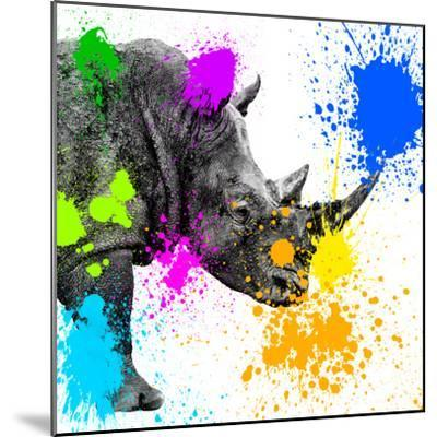 Safari Colors Pop Collection - Rhino Portrait II-Philippe Hugonnard-Mounted Giclee Print