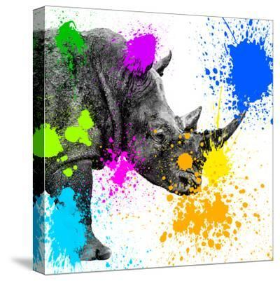 Safari Colors Pop Collection - Rhino Portrait II-Philippe Hugonnard-Stretched Canvas Print